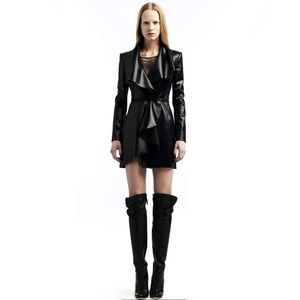 VALENTINO Black Trench Coat Size